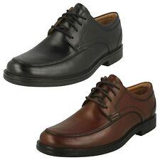 Mens Clarks Un Aldric Park Black Or Tan Leather Lace Up Shoes G Fitting
