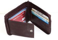 Men's Bifold Genuine Leather Zip Wallet Credit Business Cards Sleeve Holder