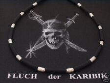 925 Silber Kette Kautschuk Collier Damen Herren Surfer Biker