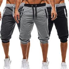 Summer Mens Casual Sport Sweatpants Jogging Gym Cotton Shorts 3/4 Trousers Pants