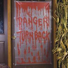 5' Bloody Warning Door Cover u name it we have