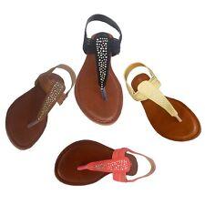 NEW Womens Summer Rhinestone Gladiator Thong Fashion Flat Sandals 863,USA Seller