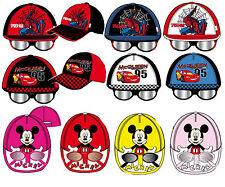 Basecape Kappie Mütze Hut Sonnenbrille Spiderman Cars Mickey Disney 52 & 54 cm