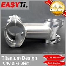"CNC Integrated Titanium Stem 25.4/31.8mm1-1/8""For Road&Mountain bike/XC/MTB/FR"