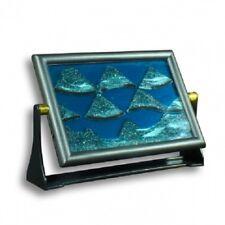Immagine di sabbia-Color incorniciato sabbia e liquidi tra vetro ipnotizzante
