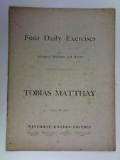 PIANOFORTE Tobias matthay quattro esercizi giornalieri, Advanced