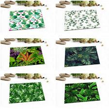 Tropical Green Leaves Cactus Kitchen Bathroom Non-slip Bath Door Mat Bathmat Rug
