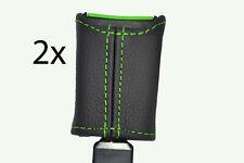 Verde Stitch encaja Citroen Saxo 96-04 Asiento Delantero cinturón tallo cubiertas de cuero