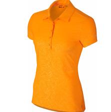 Nike Womens Golf Polo Dri-Fit Orange 725627 868 Sizes XS, L  Retail $70