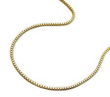 375 ECHT GOLD *** Feine Kette Venezianerkette 0,7x0,7mm / 38 - 42 - 45 cm