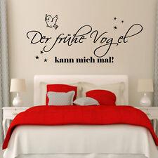 Wandtattoo 478 Schlafzimmer Der frühe Vogel kann mich mal Wand Spruch Aufkleber