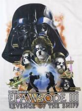 Star Wars Epawsode III Revenge Sniff Big Dogs Tee ShirtXL 3X 5X 6X White