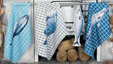 """Interni Hoff 1411 Panno da cucina """"Pesce"""" 70 x 50 cm 100% poliestere panno stoviglie"""