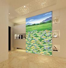 Mega 3D Colorful Flowers Lawn 434 Wall Paper Wall Print Decal Wall AJ Wall Paper