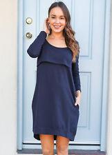 NEW - Trimester® - The Mama Journey Maternity Breastfeeding Dress in Navy
