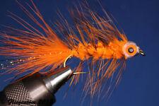 Fliegentom Streamer 3 pieces Fishmask Wooley Bugger orange grizzly