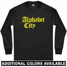 Alphabet City Gothic Long Sleeve T-shirt - NYC Manhattan Yanks - LS Men / Youth