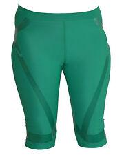Adidas  TECHFIT Powerweb Hose Shorts Tights Laufhose Damen NEU Grün