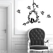 Birds & Nest with Butterflies Removable Wall Sticker