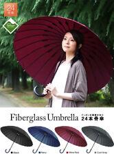 Umbrella Fiberglass 24 Ribs Aluminum shaft Teflon DuPont UV Block Japanese style