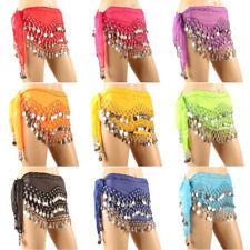 Indian Belly dance Hip Scarf waistband belt skirt Coin Sequin Belt OR PANTS
