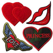 Mignon vintage coeurs fer coudre sur appliques patches chic lèvres love ailes princesse