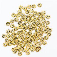 5 o 10 dorado/bronce/Color Plata Daisy Flor Pétalo 5mm espaciador granos/Metal