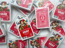Ab 1,75 € je Spiel - Skat LEINEN Französisches Bild Skatkarten Karten von ASS