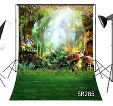 Photography Backdrop Fairy Tale Cartoon Mushroom House Photo Background Props