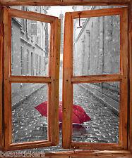 Stickers fenêtre trompe l'oeil déco Parapluie réf 5385