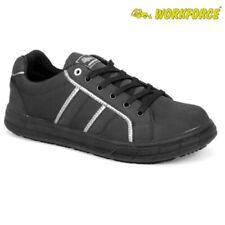 Mens Ladies Workforce Safety Steel Toe Cap Plimsoll Skater Shoe Trainer Boots Sz