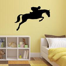 Salto Caballo pegatinas de pared-Deportes Ecuestres Adhesivo Para Dormitorio De Los Niños