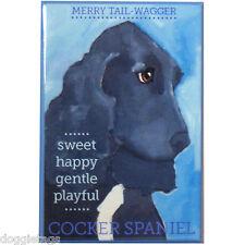 Cocker Spaniel - Dog Portrait - Fridge Magnet - Reproduction Oil Painting