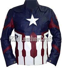 Captain America Civil War Chris Evans Steve Rogers Real Leather Jacket Costume