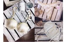 MONSOON Bravissimo MAYA Ivory Underwired Bra/Suspender Belt/Thong RRP £40