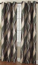 Set 2 Green Wave Geometric Curtains Panels Drapes Pair 63 84 95 inch L Grommet