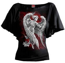 Spiral Direct ANGEL DESPAIR  Boatneck Gothic/Plus/Wing/Girls/Angel/Tee/Dark/Top