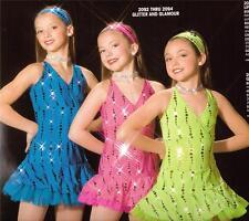 Jazz Dance Costume Artstone Tap  Skate Pageant Dress Glitter and Glamour