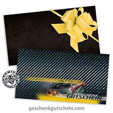 Gutscheine mit Kuverts und Schleifen für Motorräder Biker Motorsport SP1219
