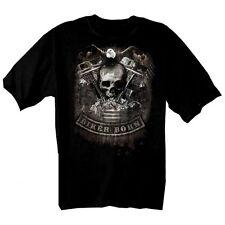 Biker t shirt modèle skull pan