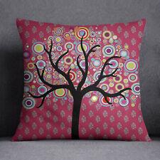 S4Sassy Magenta Square canapé coussin couvercle arbre imprimé taie d'oreiller