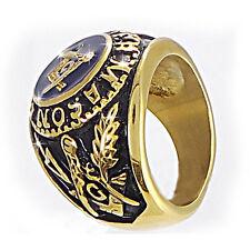 Free mason Ring Masonic Stainles Steel Freemason Men Ring Gold Color