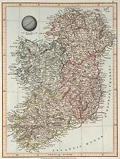 1845 Map of Ireland Aaron Arrowsmith Irish Wall Art Poster Print Vintage History