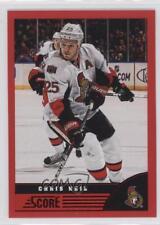 2013-14 Score Red #353 Chris Neil Ottawa Senators Hockey Card