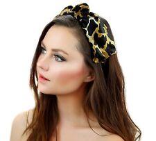 Kristin Perry Giraffe Print Velvet Knot Headband