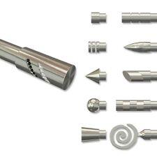 Endstücke für Gardinenstangen 20 mm Ø, Zylinder Glitzer (2 Stk.) Edelstahl Optik