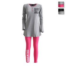 Pigiama da donna F.C. Juve Juventus caldo cotone c/maxi maglia e leggings R980