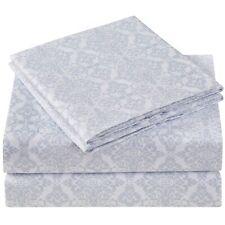 Mellanni 4-Piece Bed Sheet Set Laced Sky Blue, Wrinkle Resistant w/ Deep Pockets