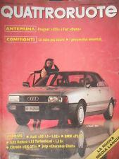 Quattroruote 374 1986 Alfa Romeo33 Turbodiesel, Jeep Cherokee Chief.Nuova Audi80