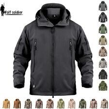 Windbreaker Mens Tactical Soft Shell Jackets Winter Army Waterproof Fleece Camo